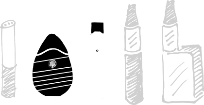 three black and white illustrations of e-cigarettes